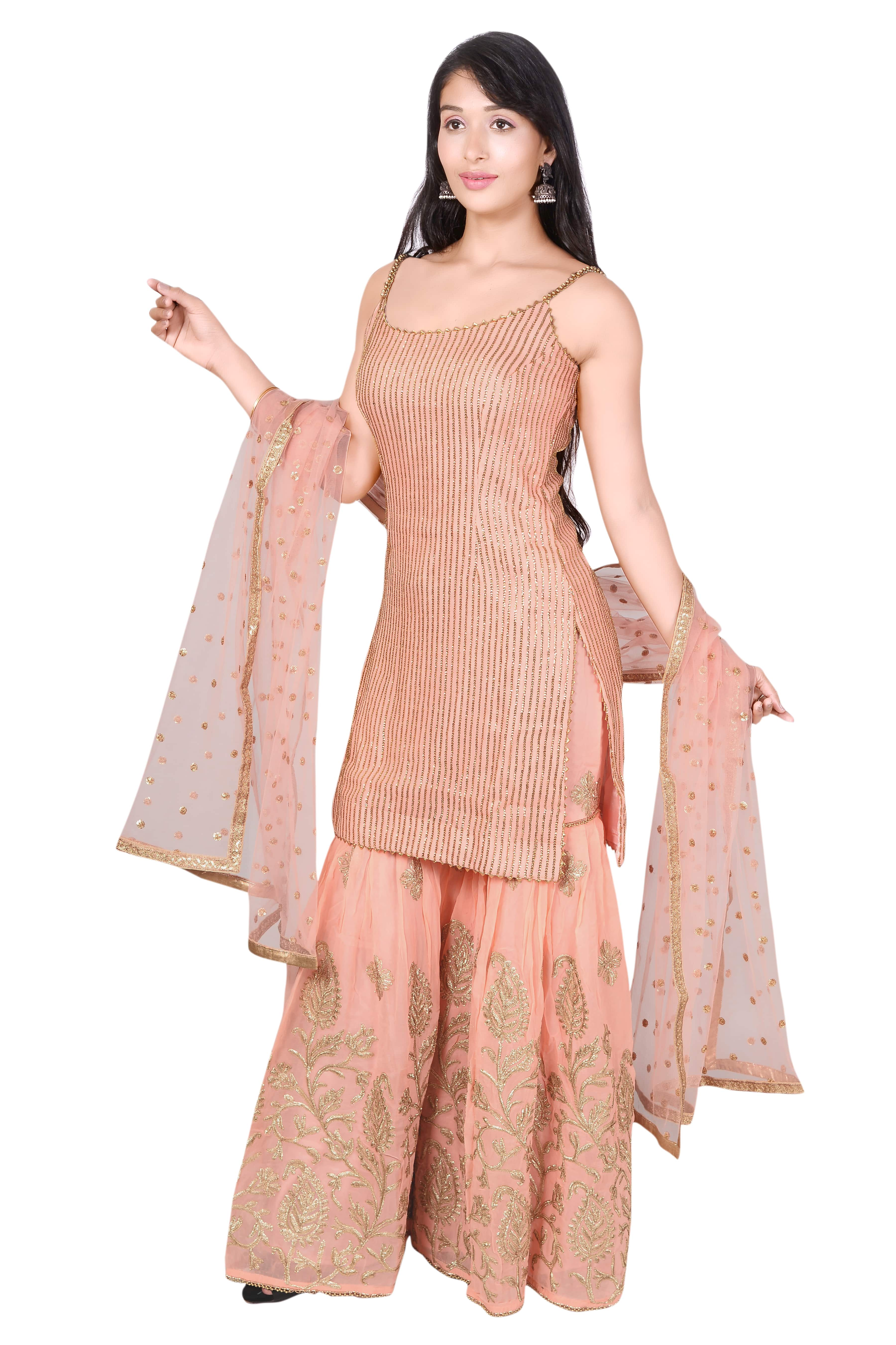 Designer Sharara Suits Suppliers