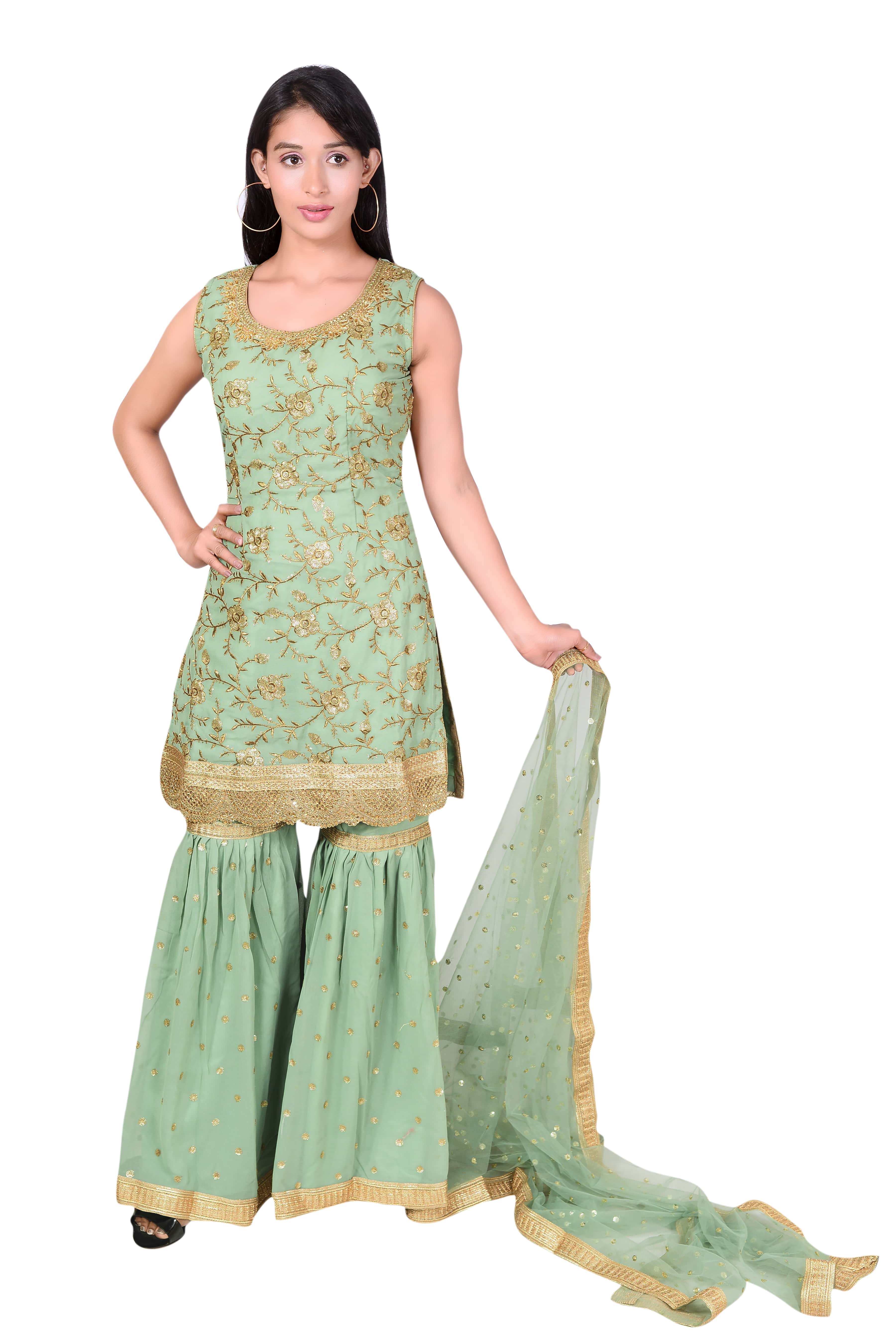 Designer Sharara Suits In Kangra